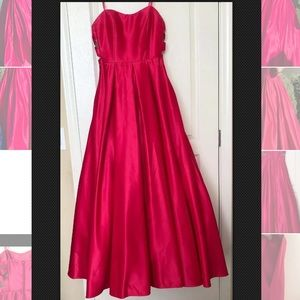 365e46df5c1 Blondie Nites Dresses - Dillards Pink Long Ball Gown Prom Dress US 9